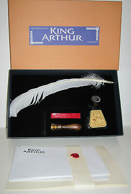 KING ARTHUR 2004 CALLIGRAPHY SET w/Feather Pen,Ink Bottle,Seal,Wax,Writing Paper