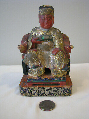 Chinese Wooden and Cloth/Plaster Nobleman Statue