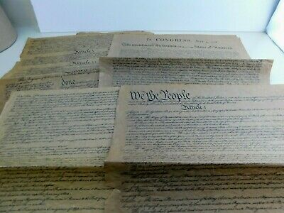 Old Historic Document Parchment Replicas United States 6 Pieces