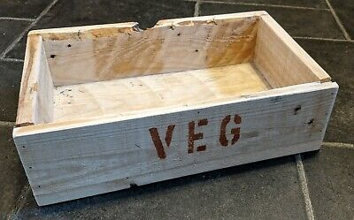Hand-Made Rustic Wooden VEG Tray / Crate / Box