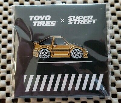 Leen Customs pins for WHIPS Toyo Calinder Meet 2020. GOLD AE86