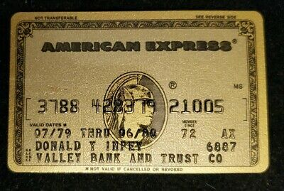 American Express Gold Credit Card exp 1980 ♡Free Shipping♡cc411