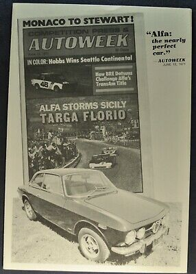 1971 Alfa Romeo 1750 GT Veloce Road Test Brochure Excellent Original 71