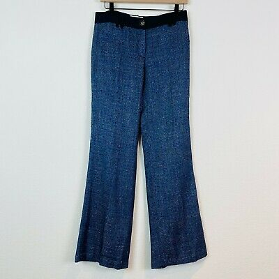 Anthropologie Elevenses Shimmered Tweed Brighton Wide-Legs Trouser Pants Size 4