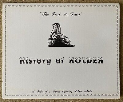 """""""The First 10 Years"""" History of Holden original Prints by The Fine Art Company"""
