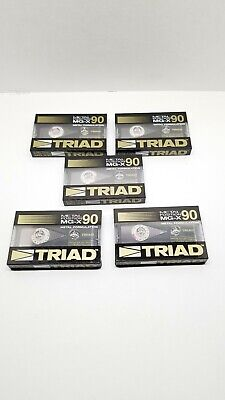 TRIAD Metal Position MG-X 90 Metal Formulation Cassette Tapes Blanks New