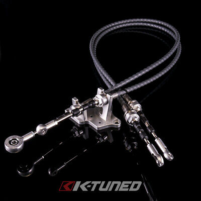 K-Tuned Race-Spec Shifter Cables w/ Bracket for K24Z7 Trans with RSX-S Selector