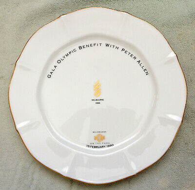 Very Rare Noritake Collector Plate...gala Olympic Benefit With Peter Allen..1990
