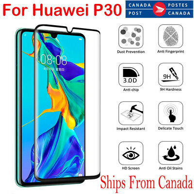 For Huawei P30 / Pro Lite 5D Full Coverage Tempered Glass LCD Screen Protector