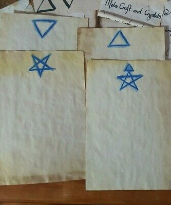 Stained Paper Degrees Of Witchcraft Watercolour Sigil Journal Grimoire Spellbook
