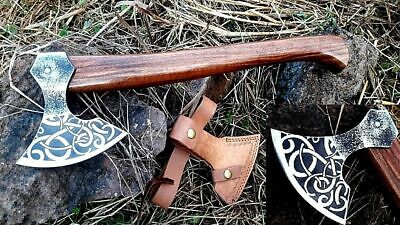 Mdm Tactical Forged Vintage Bread Hatched Combat Viking Tomahawk Engraved Axe Ax