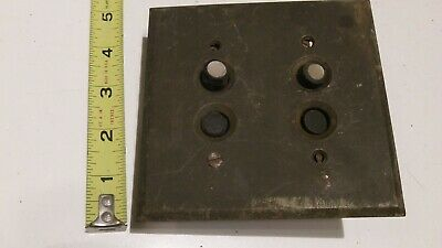2 Antique Victorian Mother Pearl Weber Push Button Electrical Switch With Cover