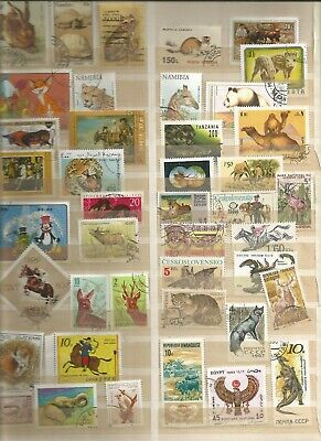 Tiere Animales  Briefmarken Lot Timbres Stamps Sellos Lot