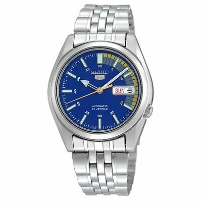 Seiko 5 Automatic Blue Dial Silver Stainless Steel Men's Watch SNK371K1 RRP £169