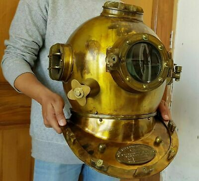 "Taucherhelm Deep Sea Diverse Helmmarke v 18"" Vintage Diving Helm Replica"