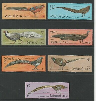 Thematic Stamps Animals - LAOS 1986 PHEASANTS 908/14 7v mint
