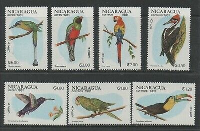 Thematic Stamps Animals - NICARAGUA 1981 BIRDS 2304/10 7v mint