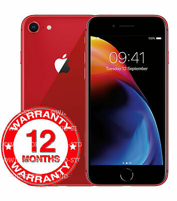 Apple iPhone 8 - 64GB -  (PRODUCT) RED (Unlocked) A1905 (GSM) Smartphone