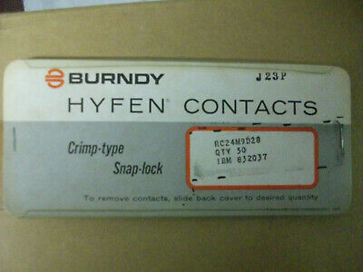 Burndy Hyfen Contacts RC24M9D28 50 pc package