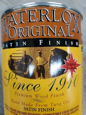 Waterlox Original SATIN FINISH for Wood Hand made from Tung Oil 1 Quart
