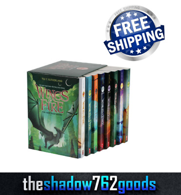 Wings of Fire: 8 Book Box Set The First Eight Books by Tui T. Sutherland NEW
