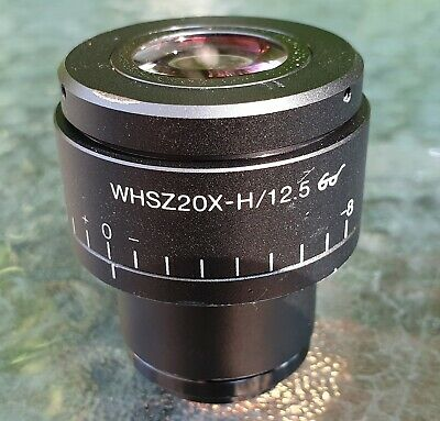 Olympus WHSZ20X-H/12.5 Stereo Microscope Eyepiece Field 12.5 Adjustable