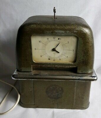Antique International Time Company Electric Time Recorder Made in England