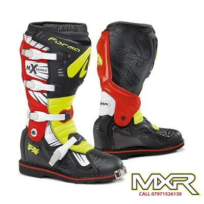 Forma Terrain Tx 2.0 Motocross Boot Black / Fluo Yellow / Red