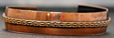 "Vintage Brass 1/2"" Cuff Bracelet Bangle"
