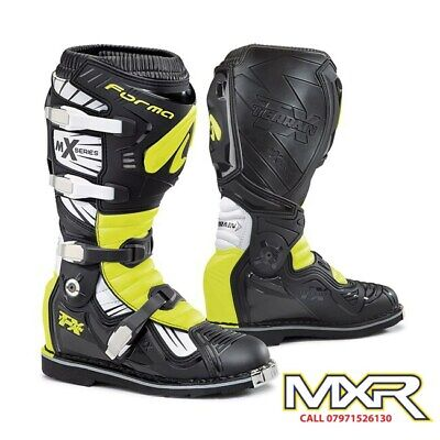 Forma Terrain Tx 2.0 Motocross Boot Black / White / Fluo Yellow