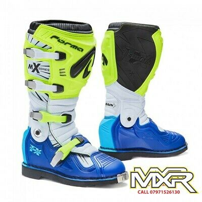 Forma Terrain Tx 2.0 Motocross Boot Fluo Yellow / White / Blue