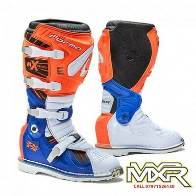 Forma Terrain Tx 2.0 Motocross Boot Orange / White / Blue