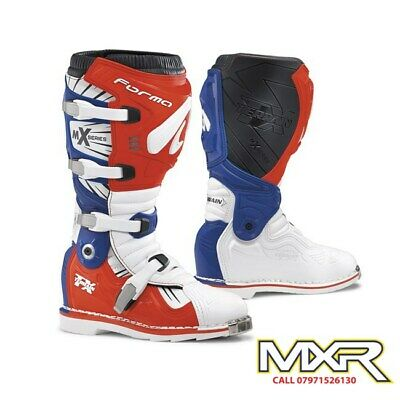Forma Terrain Tx 2.0 Motocross Boot White / Red / Blue