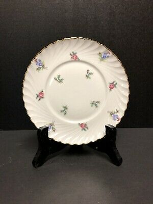 Royal Tettau Dresden Flowers Mid Century 2  Luncheon Plates Made in Germany