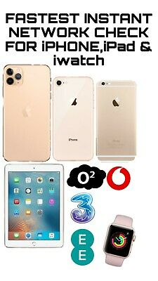 INSTANT FAST iPhone iPad IWATCH IMEI CHECK NETWORK CARRIER MODEL BLACKLISTED
