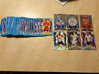 79 X Topps Premier league Match Attax Trading cards Joblot Foil Bundle 2017/2018