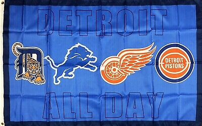 Detroit Tigers Red Wings Pistons Lions 4D Decal Premium Laminated 12 Inch 0007