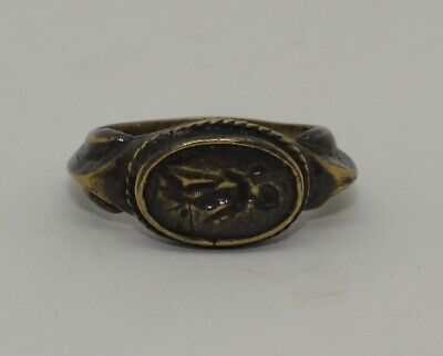 FANTASTIC LARGE ANCIENT ROMAN BRONZE SEAL RING - CIRCA 2nd CENTURY AD