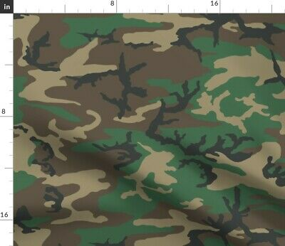 Erdl Brown Dominant Color Camo Woodland Fabric Printed by Spoonflower BTY