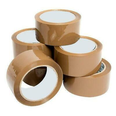 36 X Long Length Packing Adhesive Tapes Strong - Brown Parcel Packaging Tape