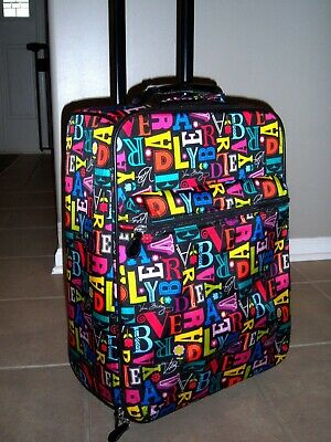 """Vera Bradley A To Vera 18.5"""" Rolling Luggage Suitcase Carry On w Luggage Tag"""
