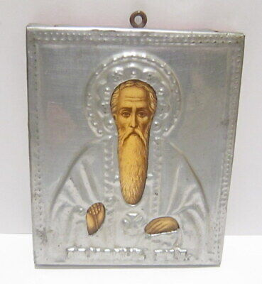 Antique Early 1900 Russian Orthodox Icons Saint John Of Rila # 16A