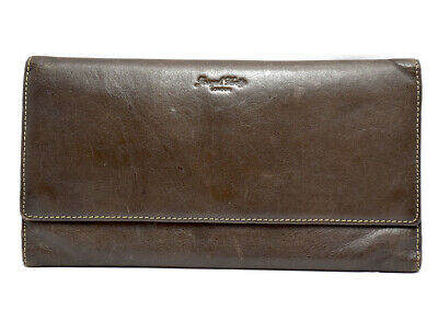 Joseph Verity Large Leather Travel Wallet Document Holder Brown