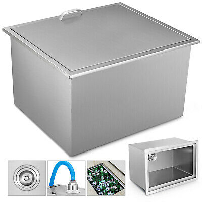 56X43X31cm Drop In Ice Chest Bin With Cover Wine Cooler Insulated Wall Handle