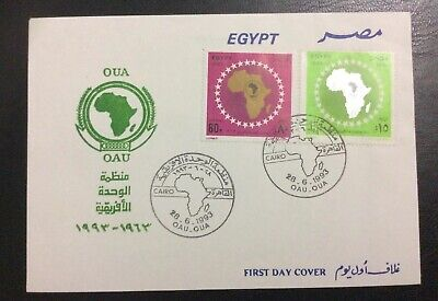 Egypt FDC 1993 OAU - OUA A Beautiful New FDC