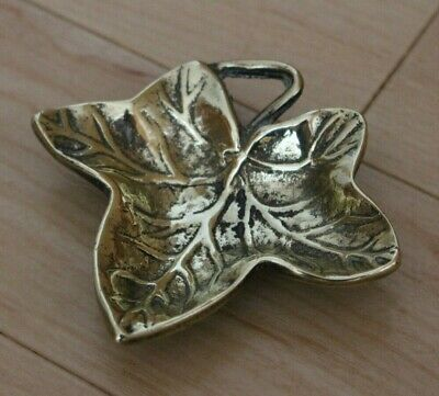 Vintage Pretty Brass Leaf Dish.