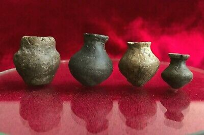 4 Spindle Whorl amphora shaped clay weaving Scythians VII cent. BC - IV cent. AD
