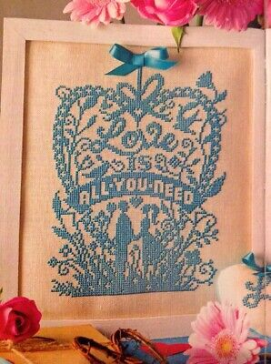 Emma Congdon Love Is All You Need Silhouette Cross Stitch Chart M