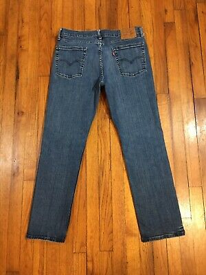 Levi's Strauss 514 Mens Slim Straight Blue Denim Jeans TAG 36 Actual Sz 34 X 29