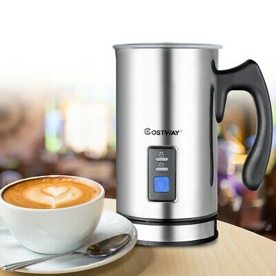 Extra Large Stainless Steel Electric Milk Frother Warmer Foamer Mixer Hot Cold